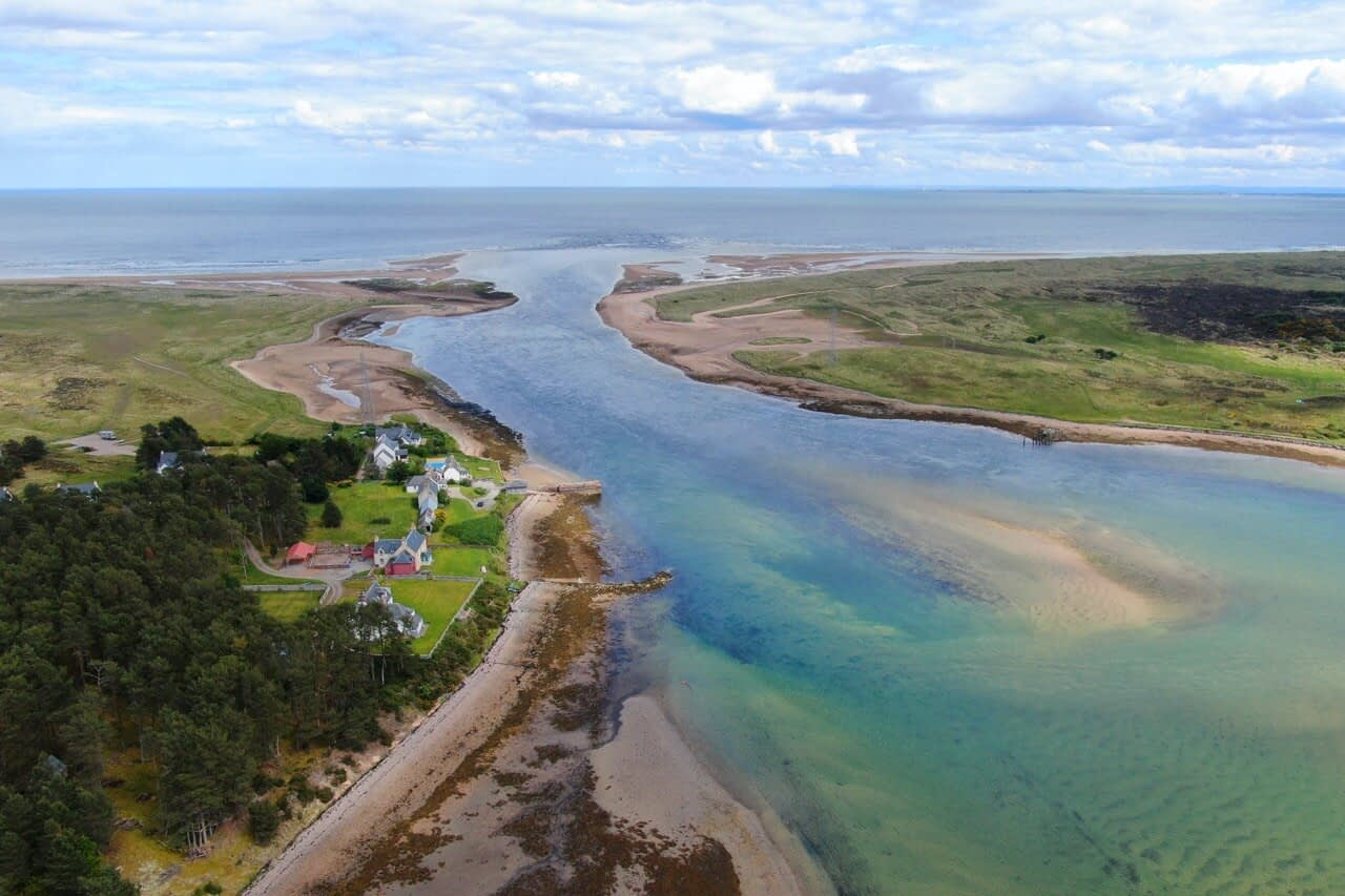 Ariel view of Customs House - Dunrobin Holiday Cottages, Caithness